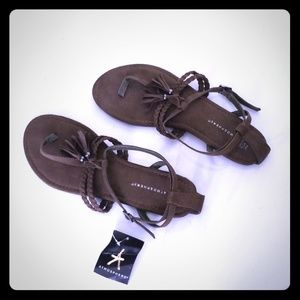 Khaki Suede Summer Sandals